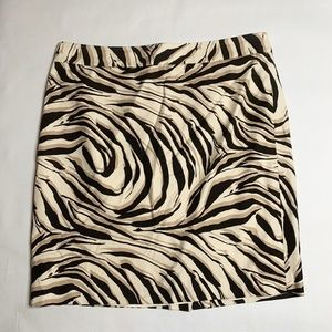 Ann Taylor Loft Animal Print Pencil Skirt Size 12